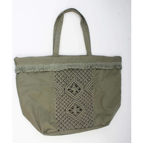 Shopper borduursel groen