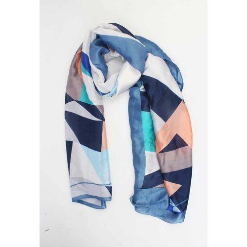 Sjaal multi blauw