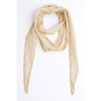 Skinny Schal mit Perlen, beige