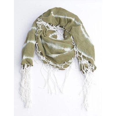 Runder Schal mit um Irrlichter, khaki (710076)