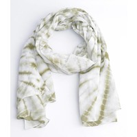 Sjaal rondtje print, khaki
