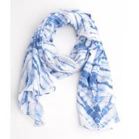 Sjaal rondtje print, blauw
