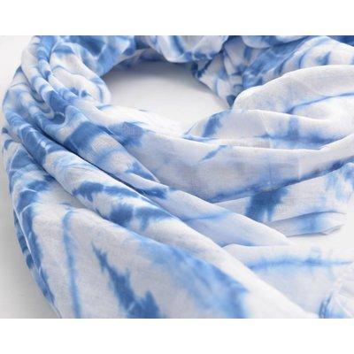 Rondtje Schal mit print, blau (710078)