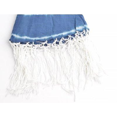 Round scarf with around WISPs, blue (710076)