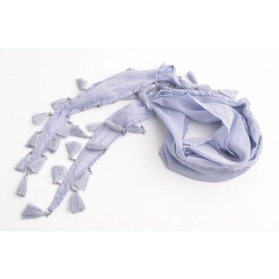 Skinny Schal mit Glitzer Perlen, lila (710074)