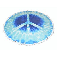 "Roundie beach towel ""Peace"""