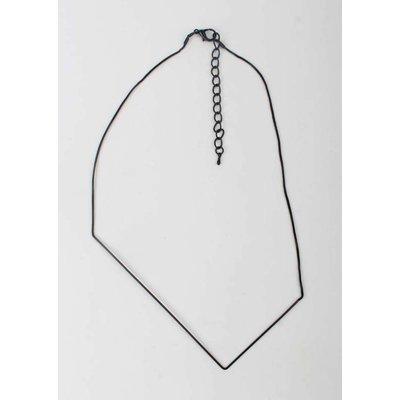 Geometric necklace black (313142)
