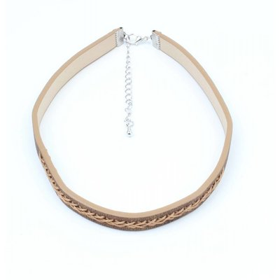 Choker with twisted stitching Brown (318099)