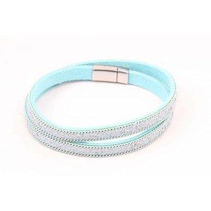 Armband mit Kette Minze wickeln