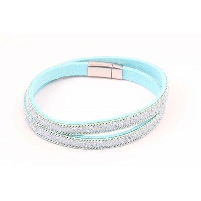 Armband mit Kette Minze wickeln (327811)