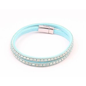 Wrap bracelet with colored chain mint