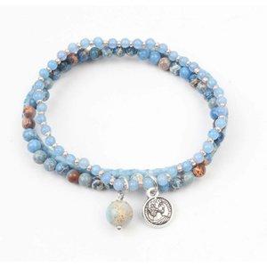"3-gewinnt-Armband ""Jasper"" blau"