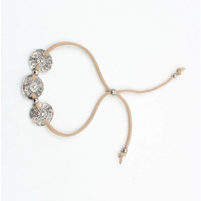 Bracelet with 3 coins adjustable nude (327858)