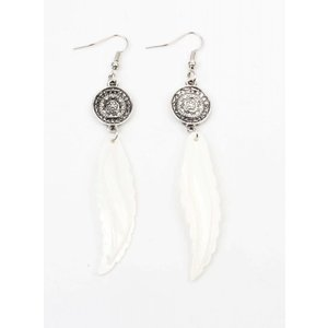 "Earrings ""Mandala"" with shell spring"