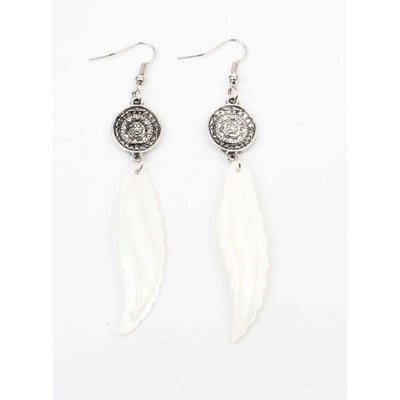 "Earrings ""Mandala"" with shell spring (335606)"