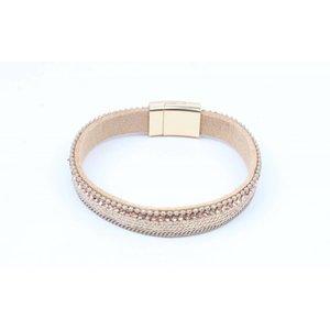 Armband met mat gouden net nude