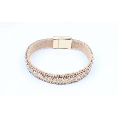 Armband mit mattem Gold nur nackt (327857)