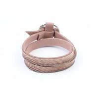 "Wikkelarmband ""Ring"" met kettinkjes nude"