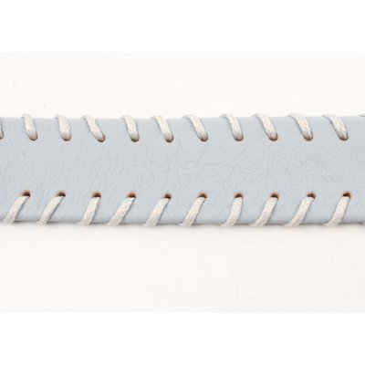 Choker with stitching pastel blue (318098)
