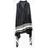"Vest ""Striped"" black and white"