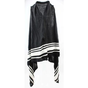 """Vest """"Gestreept"""" zwart-wit"""