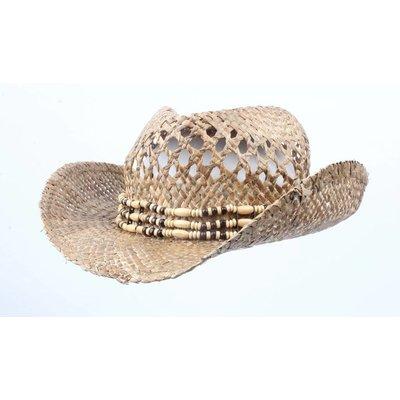 """Cowboy-Hut """"Grass"""" mit kralenkoort"""