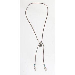 Necklace ' Inca ' Brown
