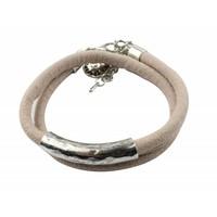 Suede wrap bracelet pink