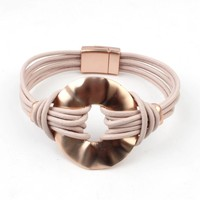 "Armband-Multi-Zeile ""Circle"" rose"
