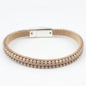 Bracelet ' metal balls ' nude