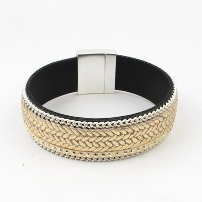 "Armband-Breite ""Strass""-taupe"