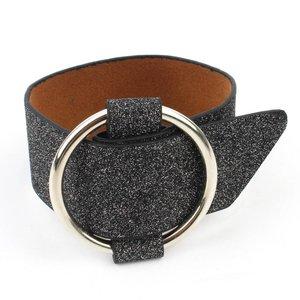 "Armband ""Metallring"" breit schwarz"