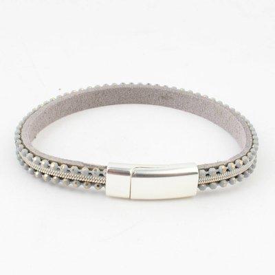 "Armband ""Metallkugeln"" Salbei"