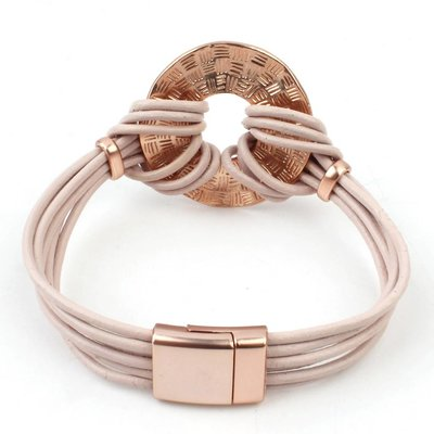 Armband multi row 'Circle' rose