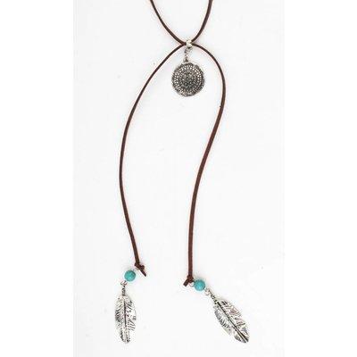 """Halskette """"Inca"""" braun"""