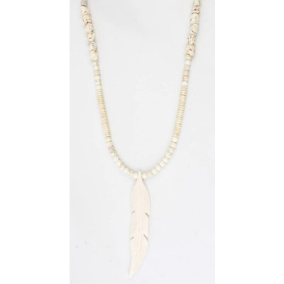 """Halskette natürlichen Stein """"Feather"""" Natur"""