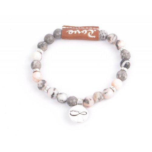 "Rove Armband Infinity ""Mila"" roze (S)"