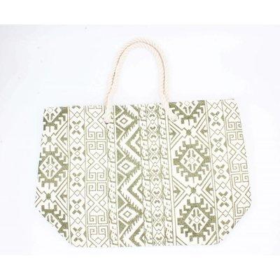 Beach bag ' Ikat ' kakhi