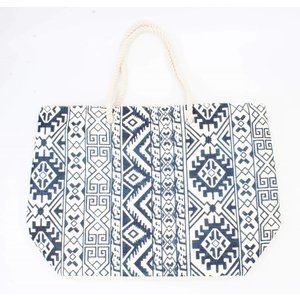 Beach bag ' Ikat ' navy