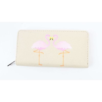 ' Flamingo ' canvas wallet sand
