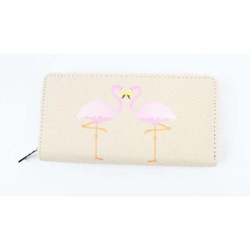 """Flamingo"" canvas Geldbörse sand"