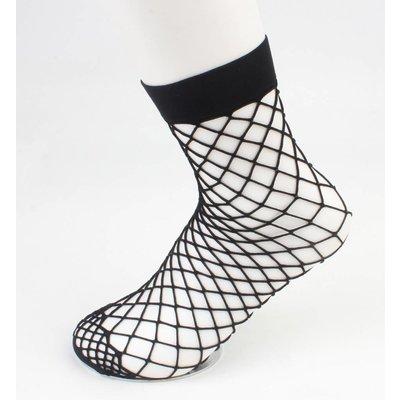 """""""Fischnetz"""" große Gage pro 2 Paar schwarze Socken"""