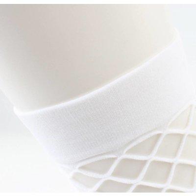 """""""Fischnetz"""" große Gage pro 2 Paar weiße Socken"""