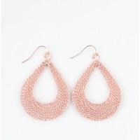 ' Drop ' metal earring sterling pink Large
