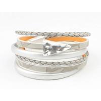 "Armband-Multi-Zeile ""Dreieck"" grau"