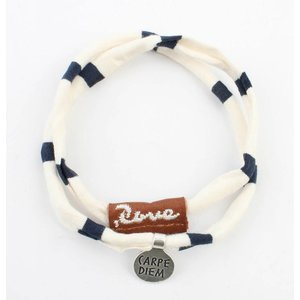 "Rove Bandy Jersey stretch ""Lucy"", white/blue (S)"