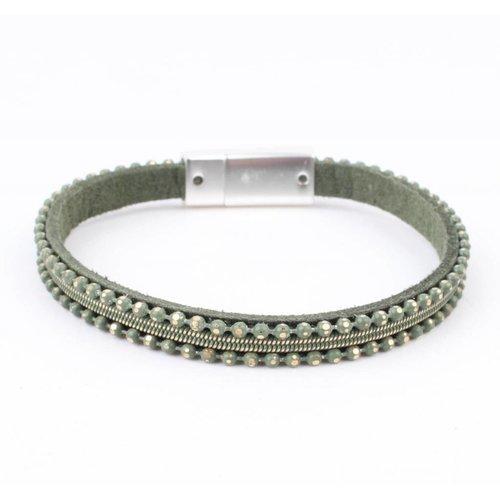 """Armband """"Metallkugeln"""" grün"""