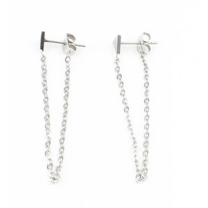 Earring stainless steel ' Triangle '