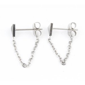 Earring stainless steel ' Triangle ' short