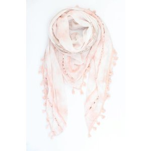 "Scarf ""Patchwork longhorn"" pink"